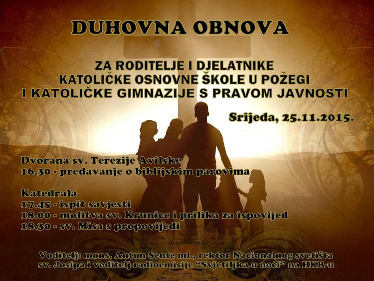 Plakat za duhovnu obnovu