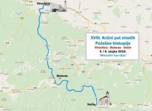XVIII. Biskupijski križni put mladih - Karta