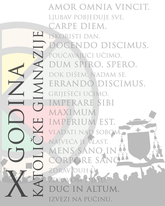 2017 plakat - x godina skole