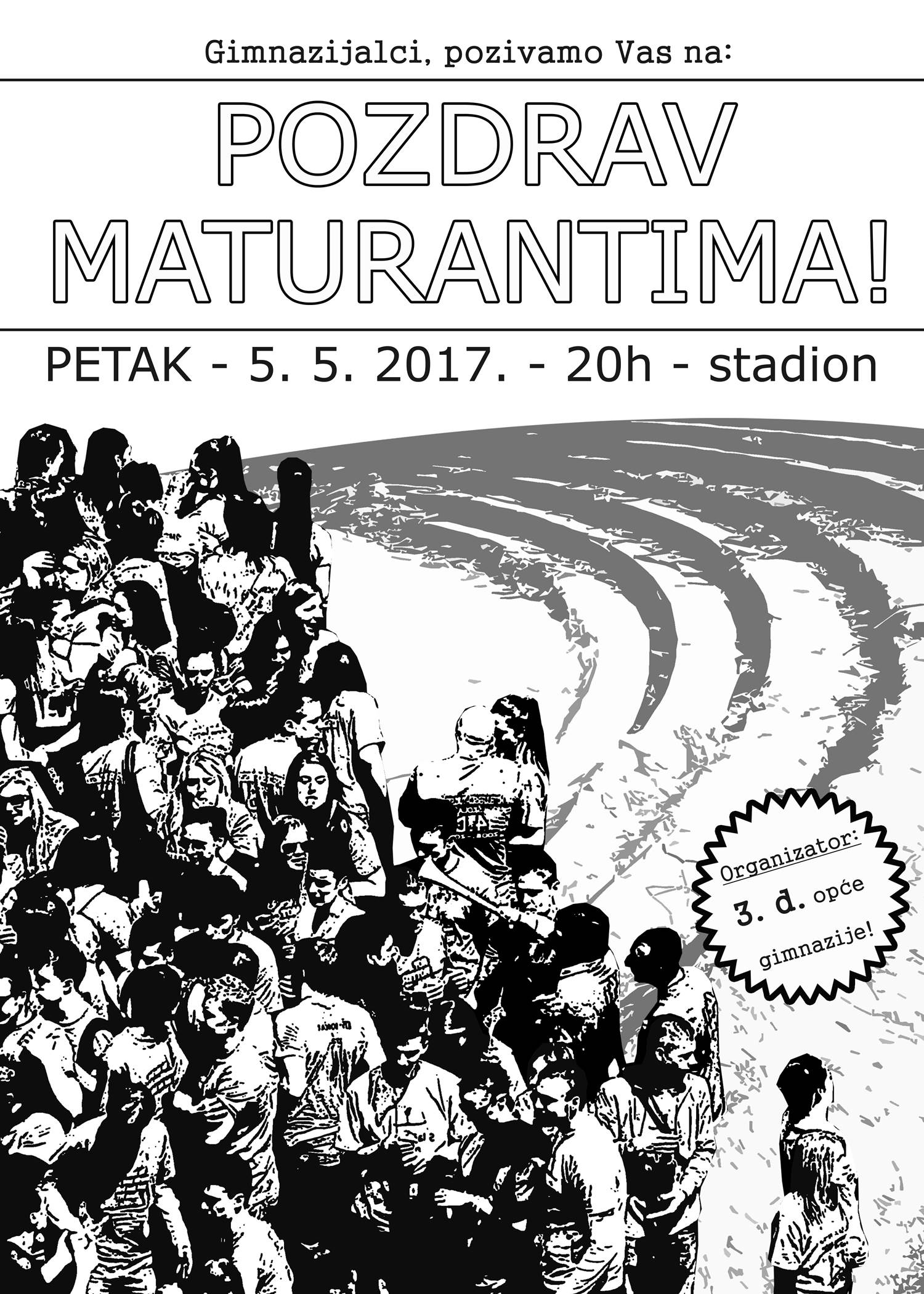 PLAKAT - POZDRAV MATURANTIMA 2017 50x70